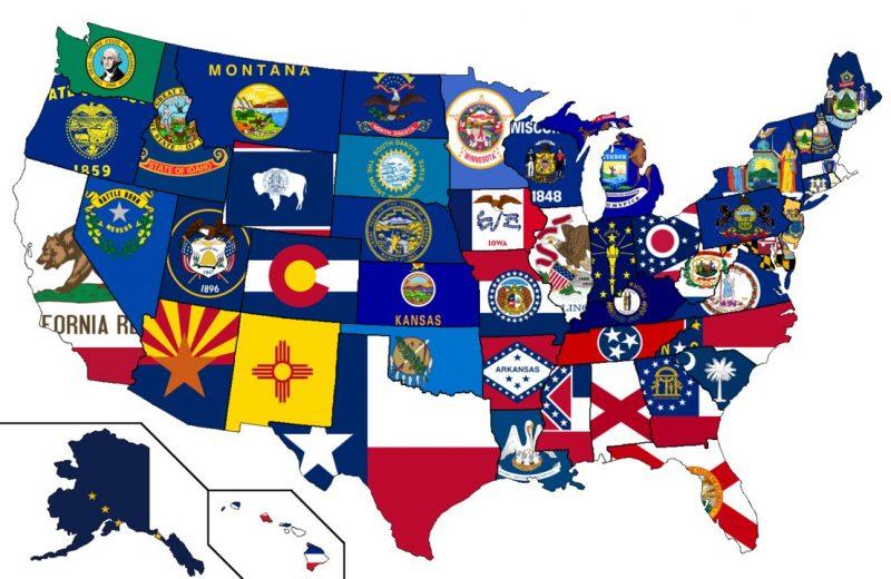 Unites States Flags Map